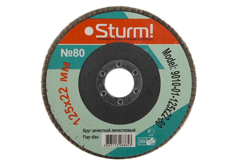 Круг Лепестковый Торцевой (КЛТ) Sturm! 9010-01-125x22-80 рубашка cinque 9010 3301 01
