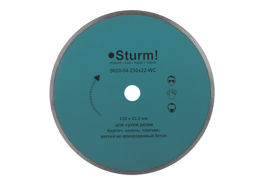 Круг алмазный Sturm! 9020-04-230x22-wc