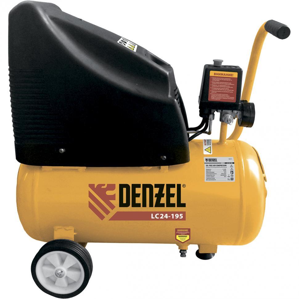 Компрессор Denzel Lc 24-195 58072