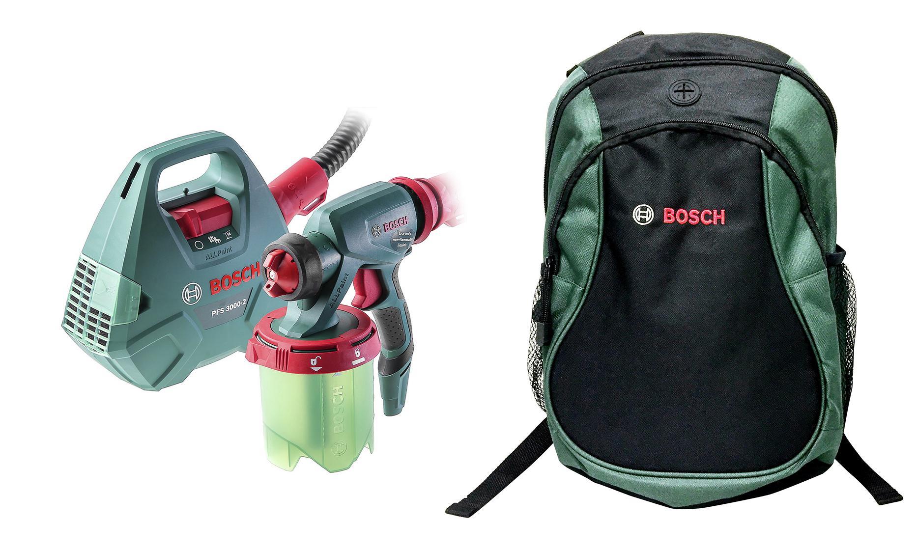 Набор Bosch Краскопульт pfs 3000-2 (0.603.207.100) +Рюкзак green (1619g45200) bosch pfs 3000 2 0603207100