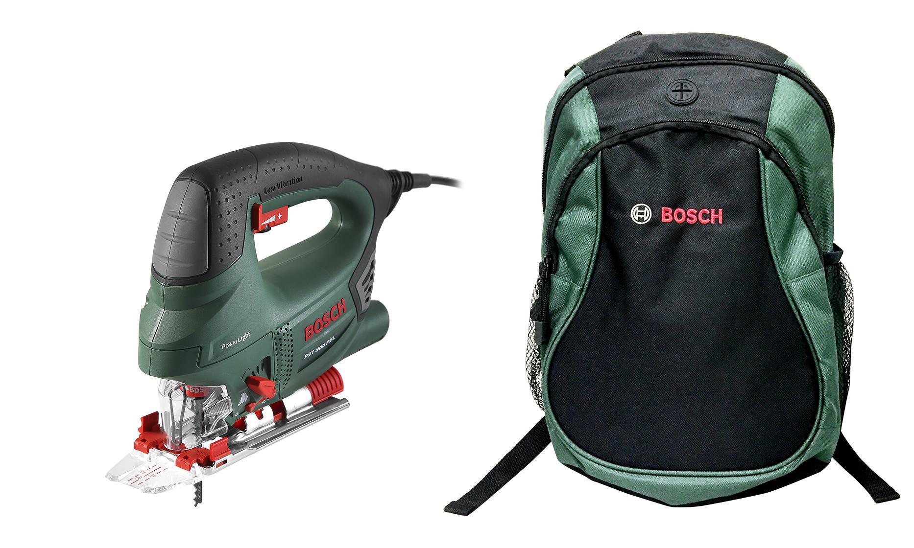 Набор Bosch Лобзик pst 900 pel compact (0.603.3a0.220) +Рюкзак green (1619g45200)