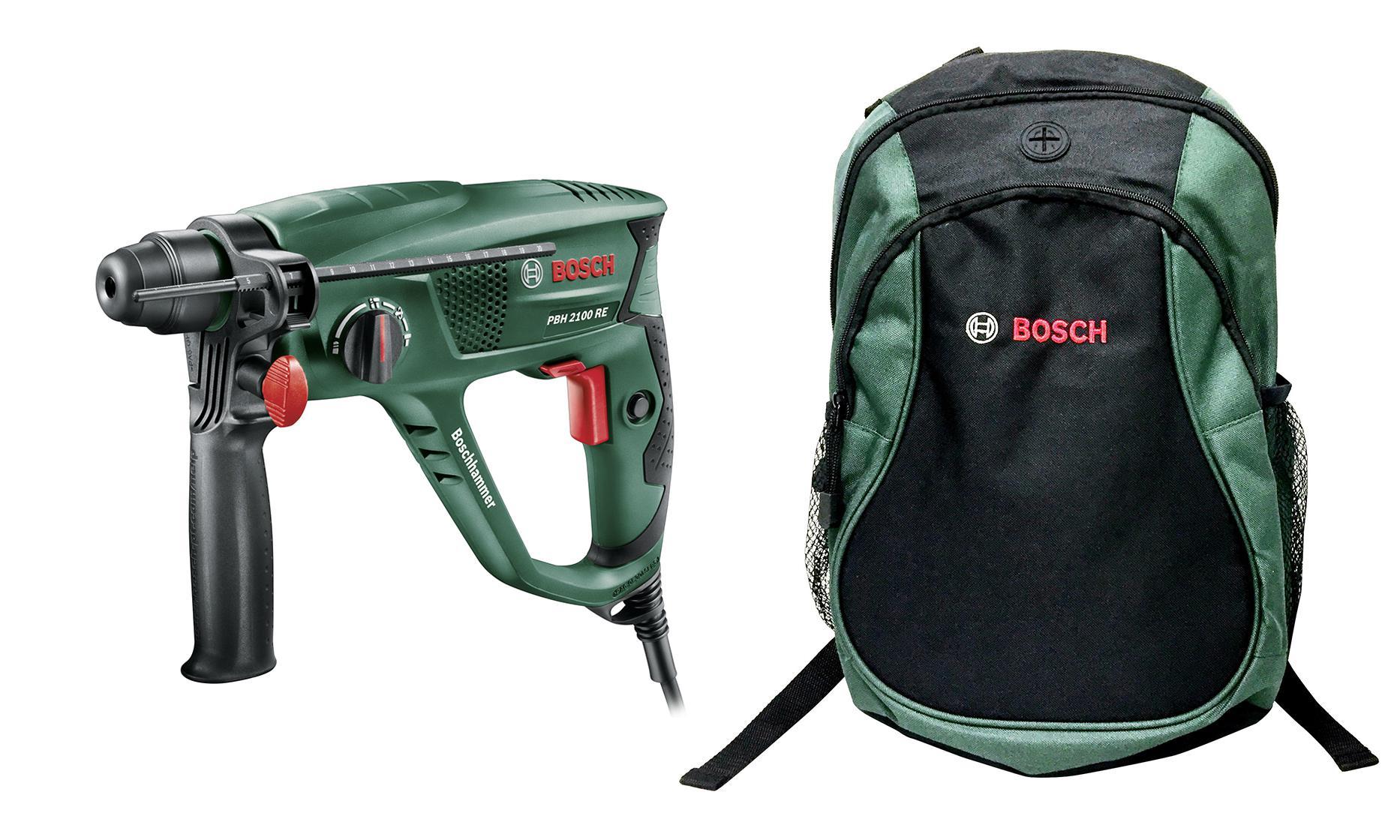 Набор Bosch Перфоратор pbh 2100 re (0.603.3a9.320) +Рюкзак green (1619g45200) перфоратор sds plus bosch pbh 2500 re 0 603 344 421