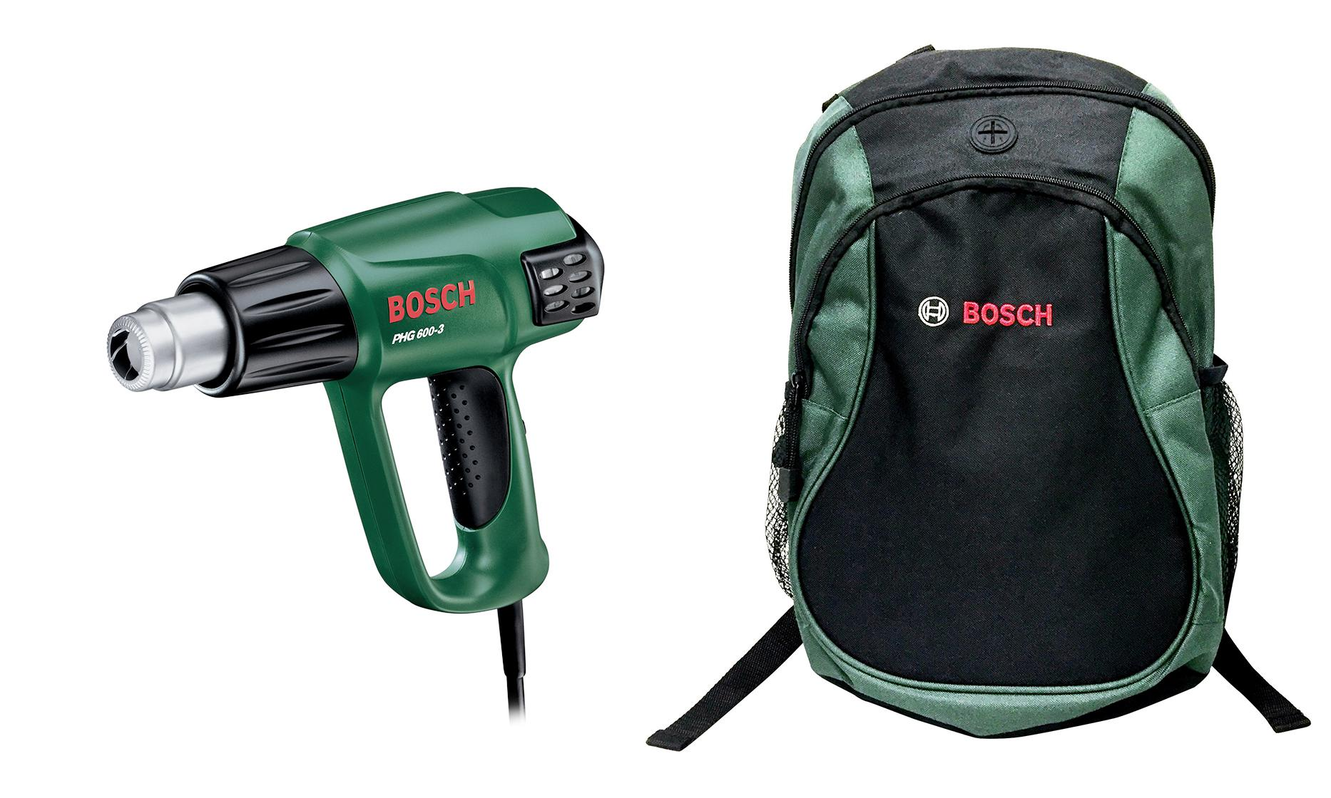 Набор Bosch Фен технический phg 600-3 (0.603.29b.008) +Рюкзак green (1619g45200) bosch phg 600 3 060329 b 008