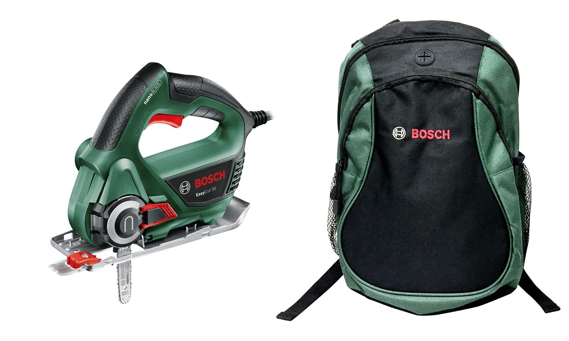 Набор Bosch Пила цепная easycut 50 (0.603.3c8.020) +Рюкзак green (1619g45200) дальномер bosch plr 50 c 50 м 603672220