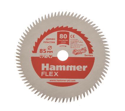 Диск пильный HAMMER Ф85х10мм 80зуб. (205-135)