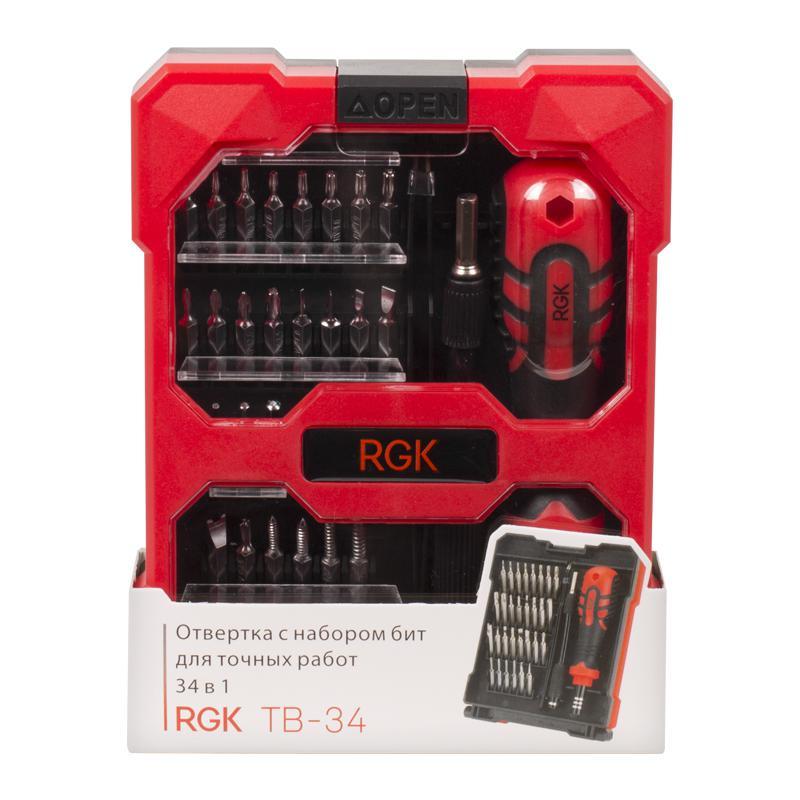 Отвертка Rgk Tb-34 (34 в 1) набор rgk уровень lp 64 отвертка tb 34 34 в 1