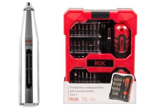 Набор RGK Склерометр SK-60 +Отвертка TB-34 (34 в 1)