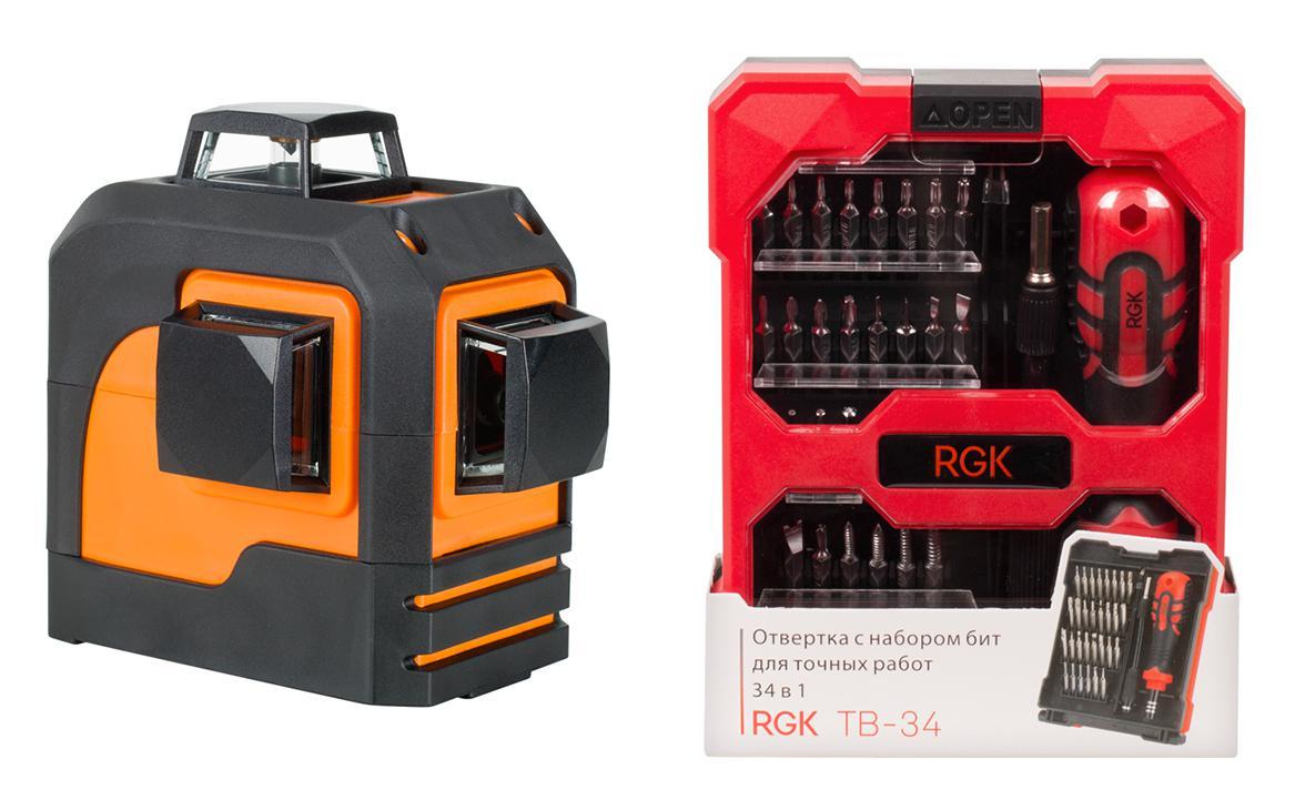 Набор Rgk Уровень pr-3m +Отвертка tb-34 (34 в 1) набор rgk уровень lp 64 отвертка tb 34 34 в 1