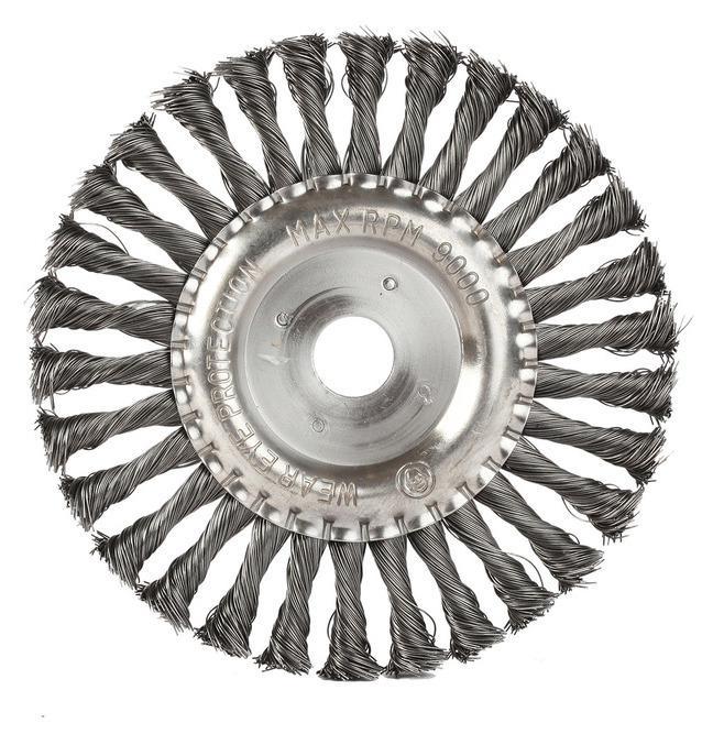 Кордщетка Edge плоская 180мм для УШМ витая сталь (813010013) кордщетка edge плоская 180мм для ушм витая сталь 813010013