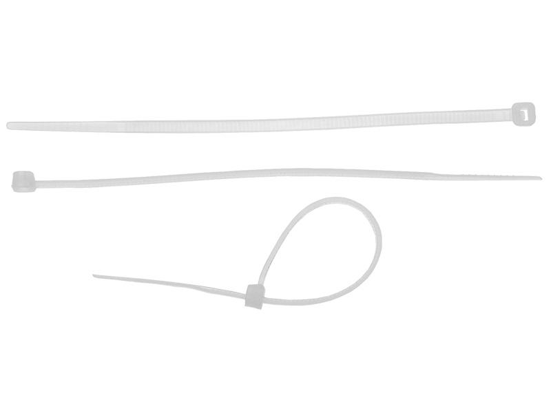 Хомуты ЗУБР 7.6 x 250 мм 100 шт белые хомут nylon 250 x 3 5 мм 100 шт белый профессиональный