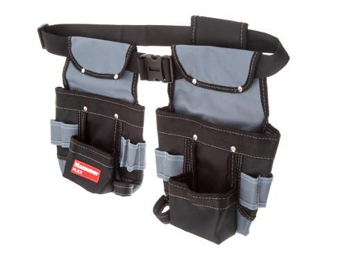 Двойная поясная сумка для инструментов HAMMER 235-022 (65х25мм)