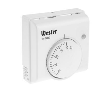 Терморегулятор WESTER TR-2000 белый