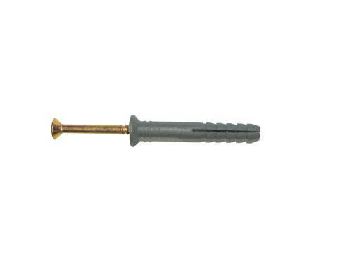 Дюбель-гвоздь SWFS 6х60мм 4шт. с потайным бортиком (092023)