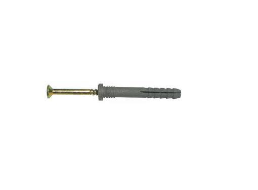 Дюбель-гвоздь SWFS 6х60мм 5шт. с потайным бортиком (092019)