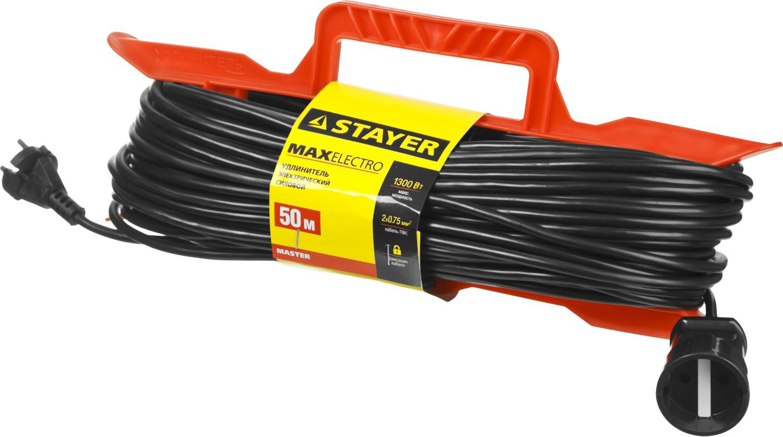 Удлинитель Stayer maxelectro 55018-50 удлинитель stayer 20м на рамке 55018 20
