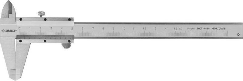 Фото - Штангенциркуль ЗУБР 34512-150 ЭКСПЕРТ штангенциркуль зубр 150мм шаг 0 05мм с глубиномером нержавеющая сталь шц 1 150 0 05 34512 150