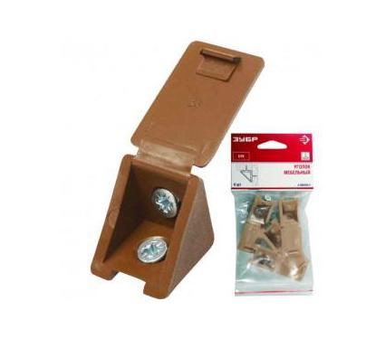 Уголок мебельный с шурупом ЗУБР 4-308256-2