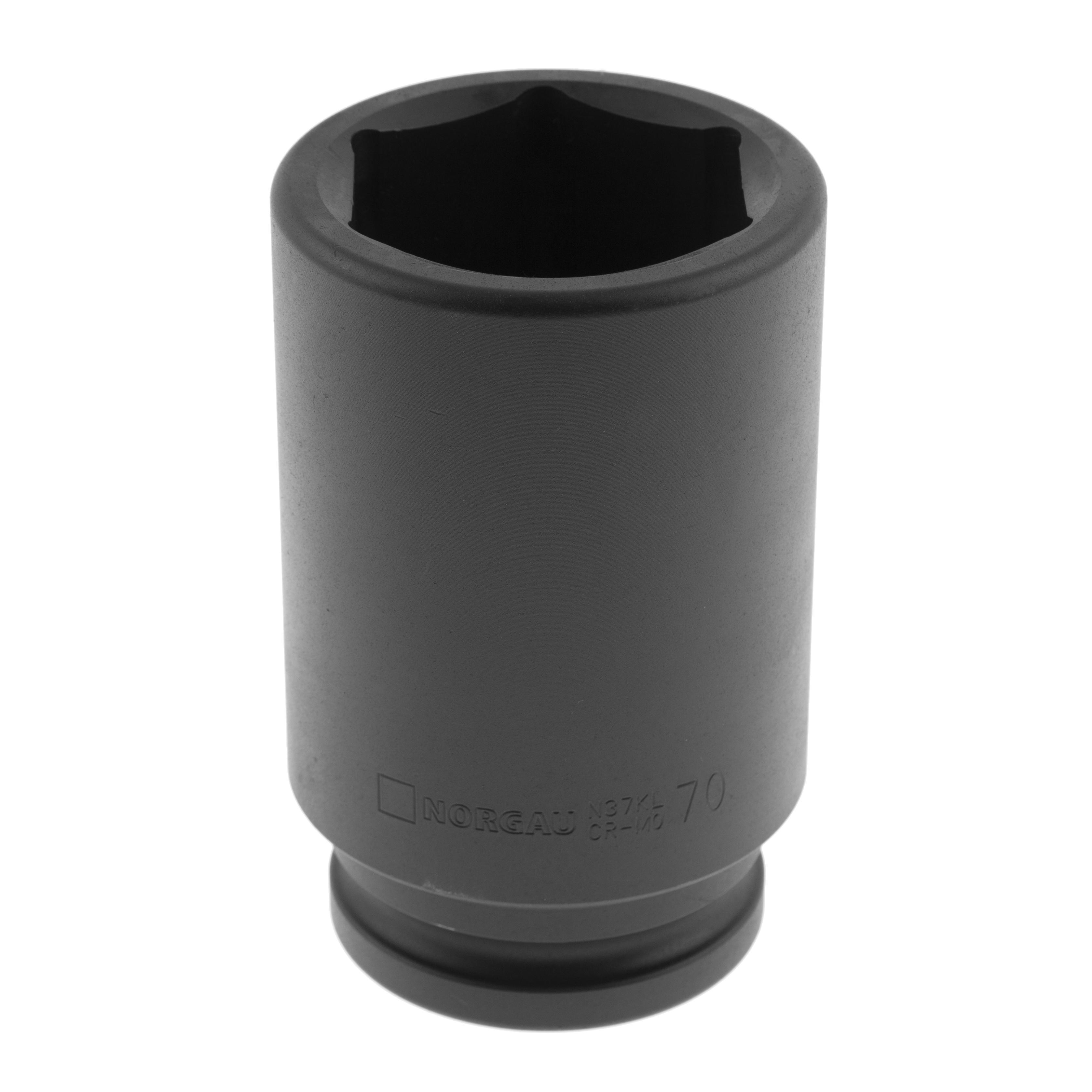 Головка ударная удлиненная Norgau размер 70мм, h 160мм, s 1 1/2'' (064085070)