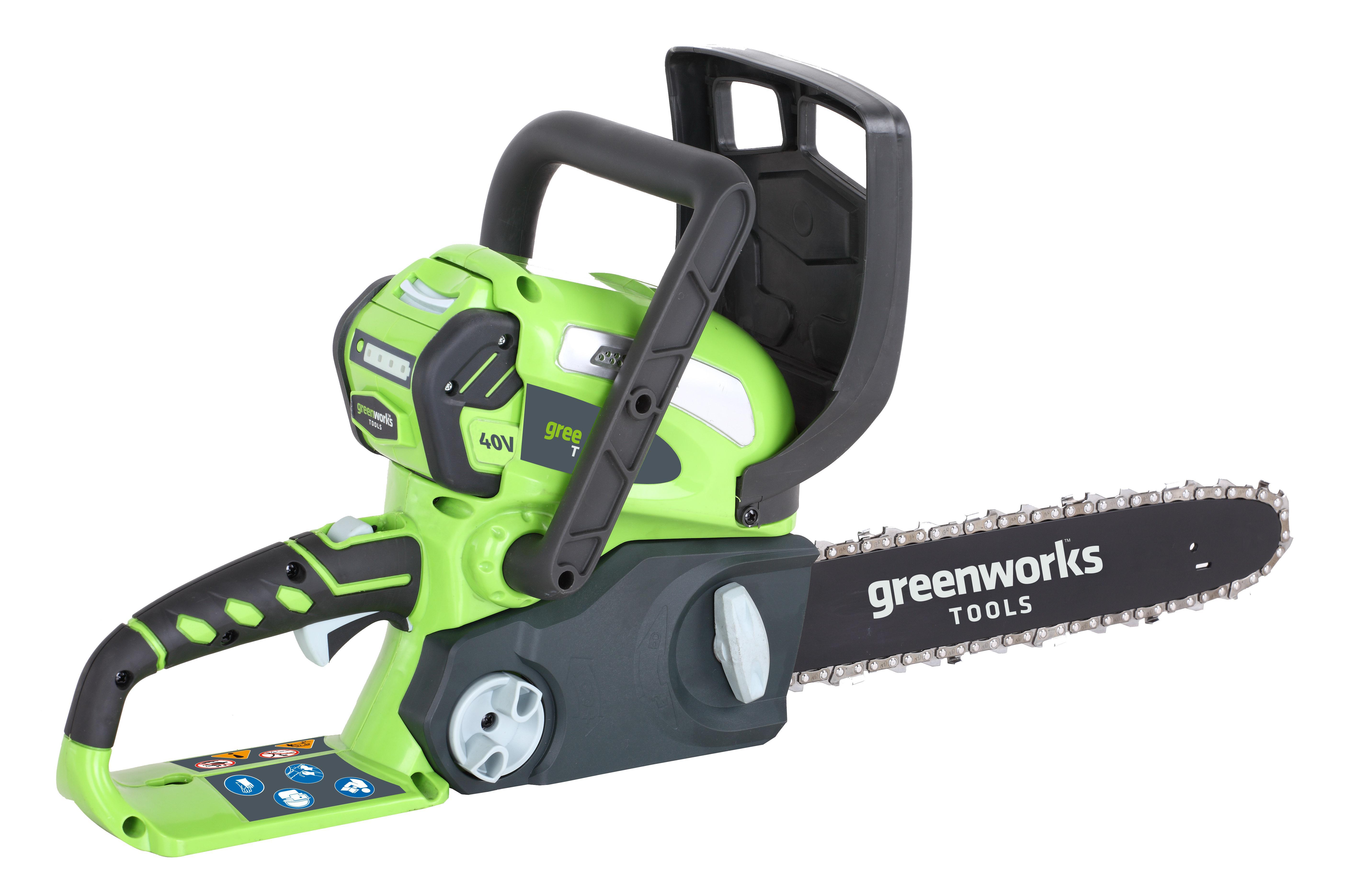 Пила цепная аккумуляторная Greenworks G40cs30k4 (20117ub) 1акк. 40В 4Ач + ЗУ