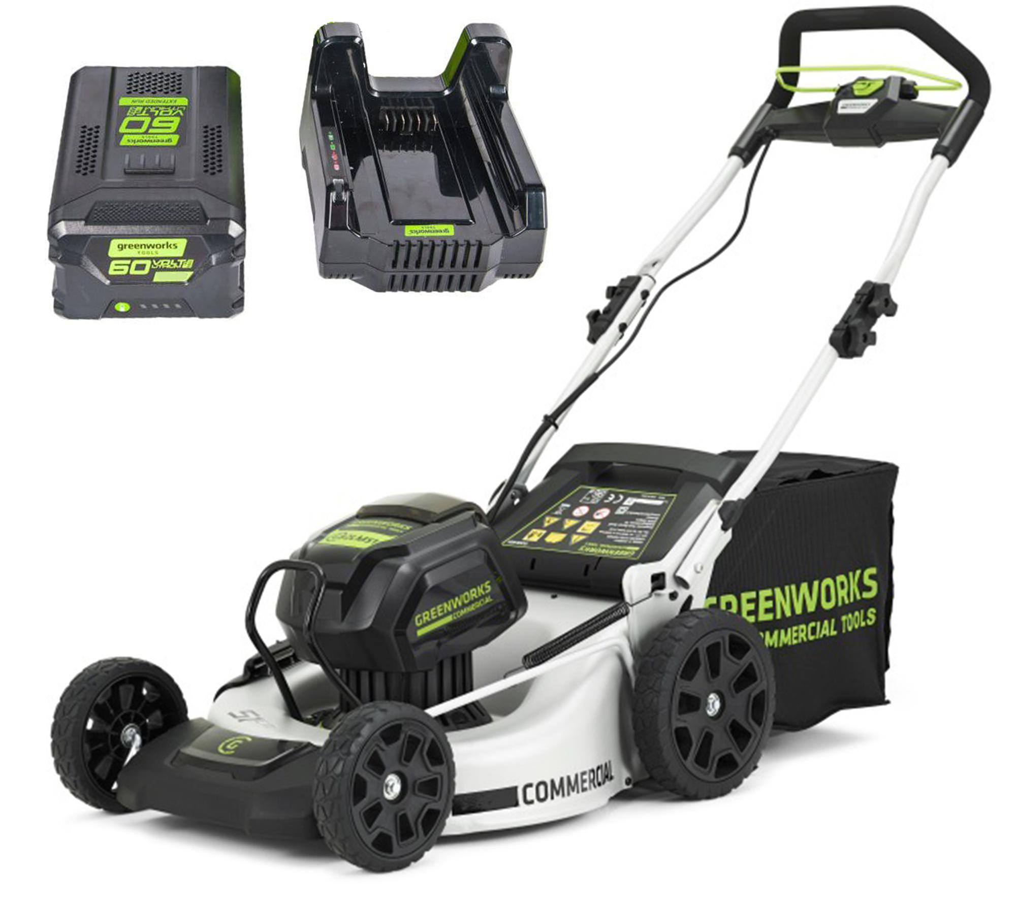 Купить со скидкой Аккумуляторная газонокосилка Greenworks Gc82lm51k5 (2502007ub)