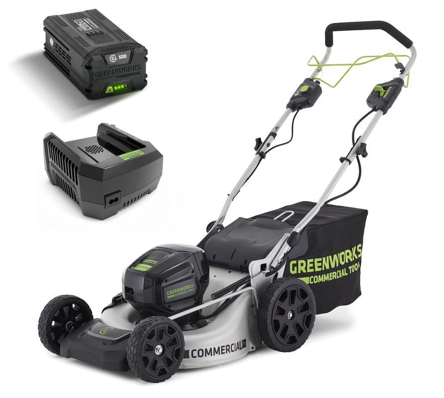 Аккумуляторная газонокосилка Greenworks Gc82lm51spk5 (2502607ub)
