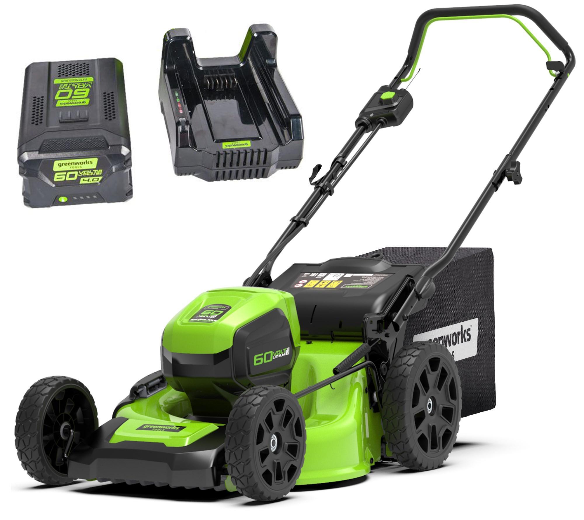 Аккумуляторная газонокосилка Greenworks Gd60lm51hpk4 (2502707ub)
