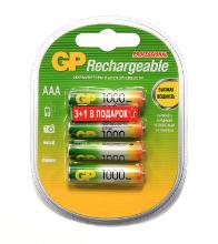GP 100AAAHC3/1-RC4 Тип: AAA (LR03) (Кол-во в уп. 4шт.)