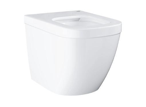 Приставной унитаз GROHE Euro Ceramic 3933900H, безободковый, горизонтальный выпуск