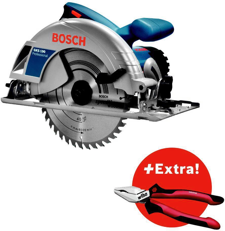 Пила циркулярная Bosch Gks 190 + Пассатижи wiha (0.615.990.k33)