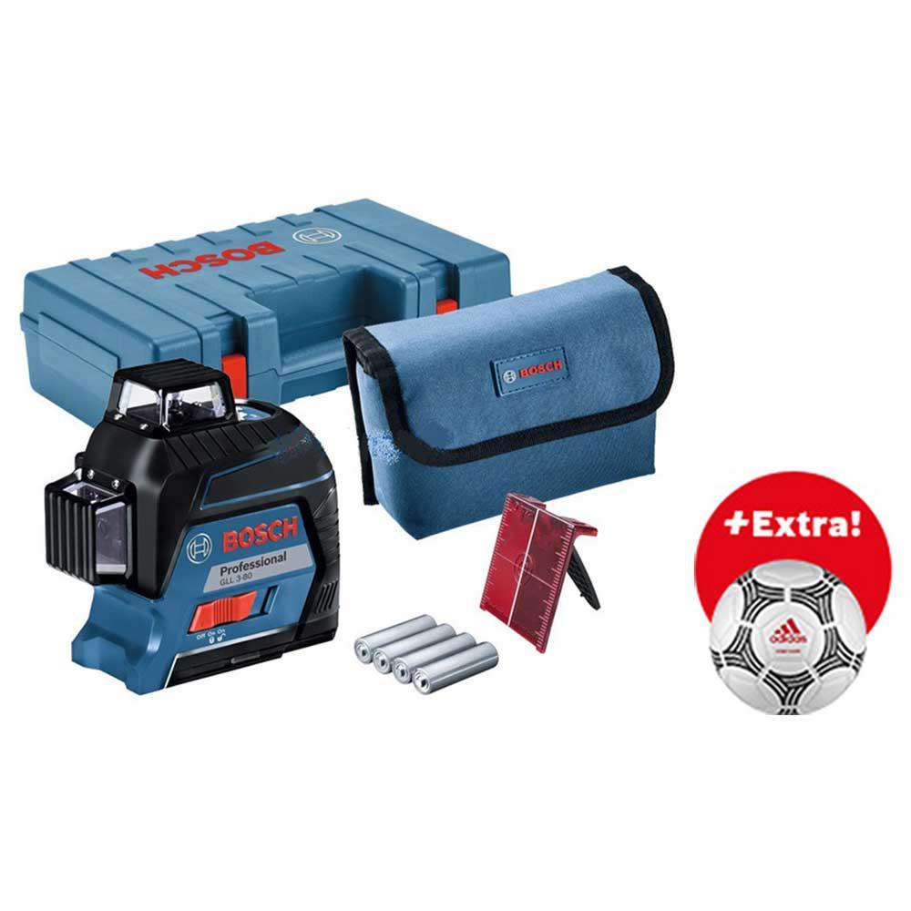 Уровень Bosch Gll 3-80 carrying case + футбольный мяч (0.615.994.0lm)
