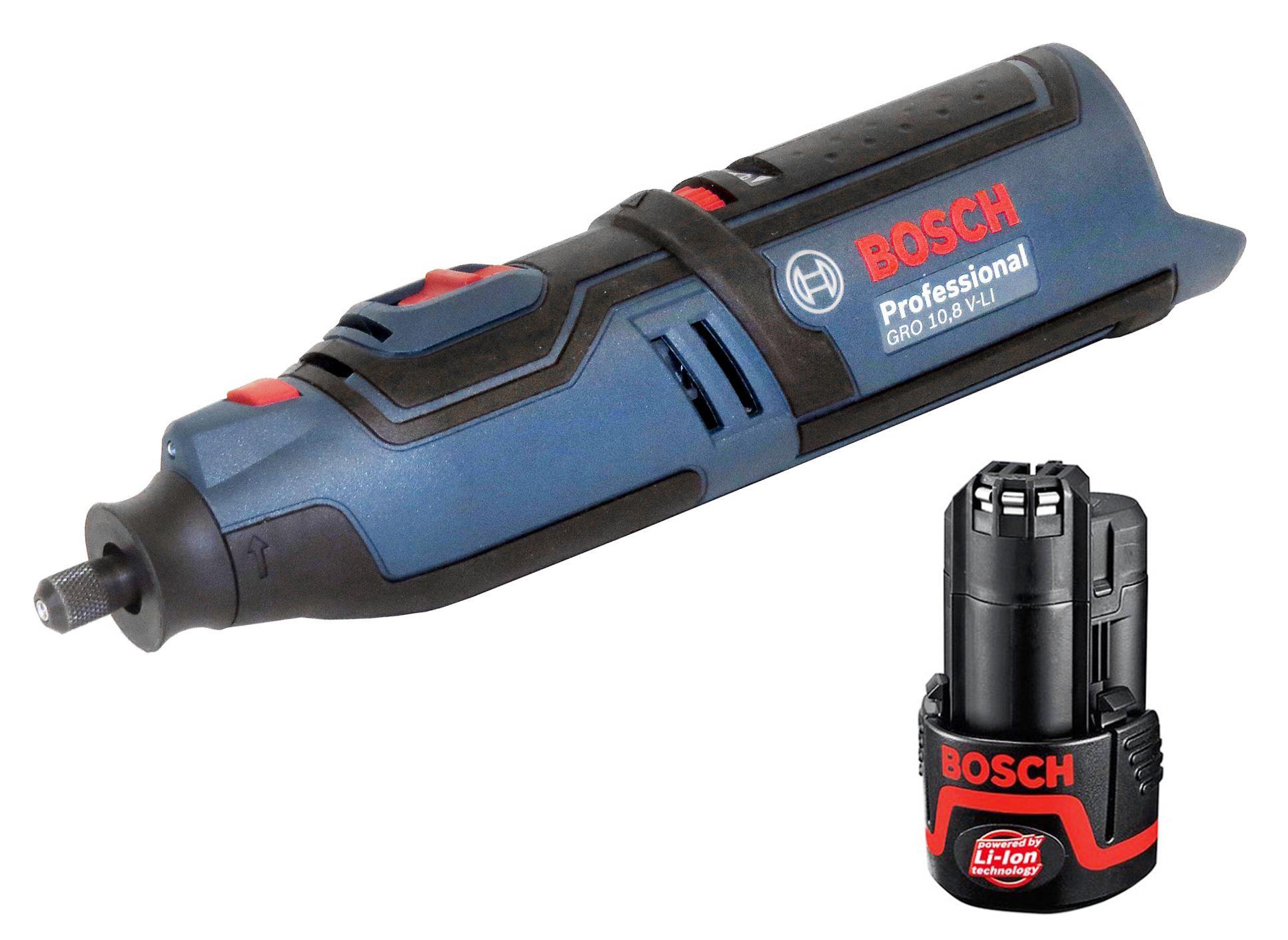 Набор Bosch Мини-дрель gro 10,8 v-li без акк (0.601.9c5.000) +Аккумулятор 12 В2.0Ач liion (1.600.z00.02x)