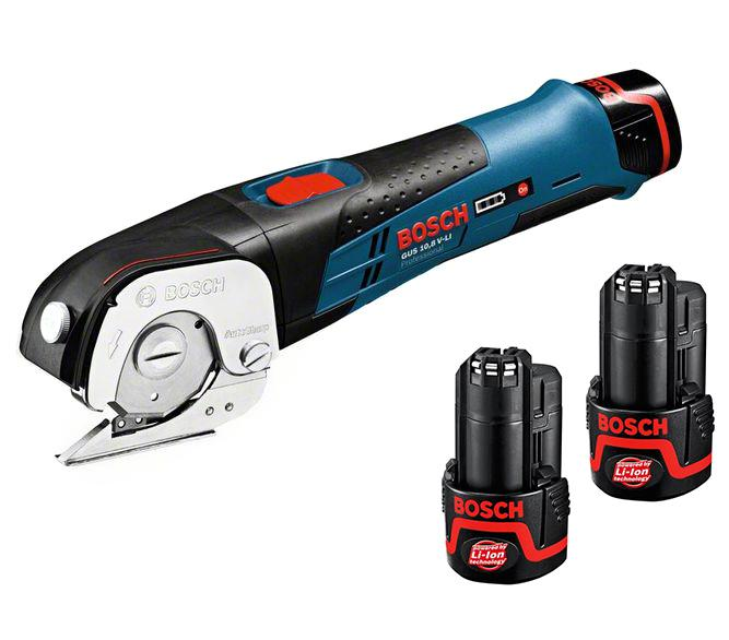 Набор Bosch Ножницы gus 10,8 v-li2.0 Ач (0.601.9b2.904) +Аккумулятор 12 В2.0Ач liion (1.600.z00.02x)