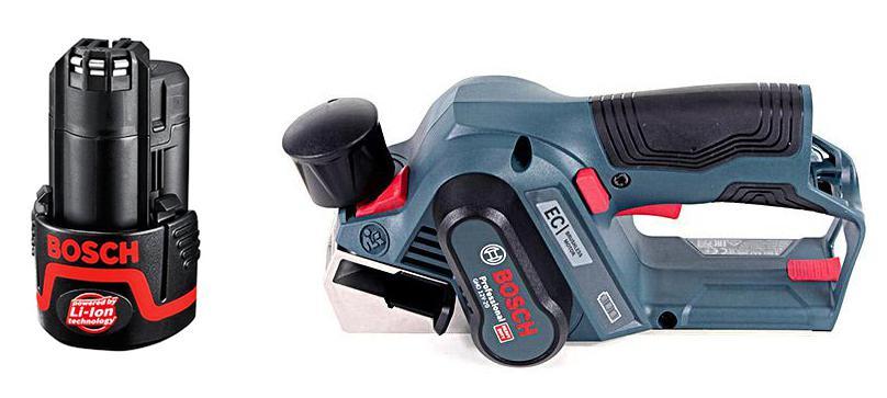 Набор Bosch Рубанок gho 12v-20 (06015a7000) +Аккумулятор 12 В2.0Ач liion (1.600.z00.02x)