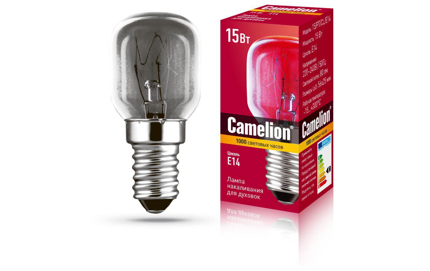 Лампа Camelion Mic-15/pt/cl/e14