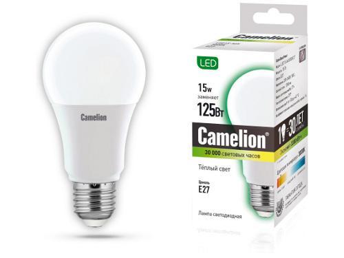 Лампа Camelion Led15-a60/830/e27
