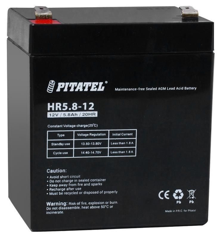 Аккумулятор для ИБП Pitatel Hr5.8-12 аккумулятор для ноутбука pitatel bt 530