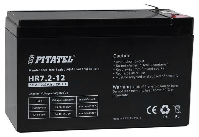 Аккумулятор для ИБП Pitatel Hr7.2-12 pitatel bt 138 аккумулятор для ноутбуков asus m50 x55s
