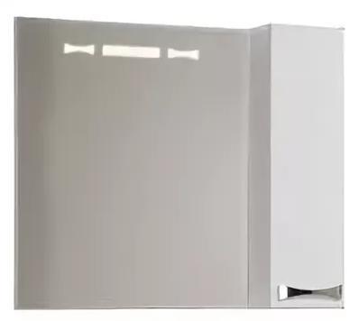 Зеркало-шкаф АКВАТОН ДИОР 80 правое 1a168002dr01r caprigo зеркало для ванной caprigo альбион 80 100 bianco antico