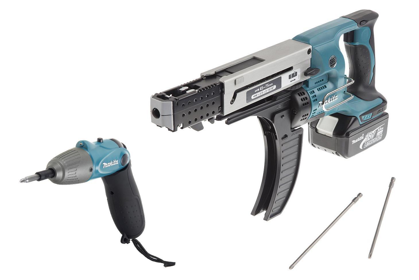 Набор Makita Шуруповерт аккумуляторный dfr750rfe +Отвертка аккумуляторная 6723dw цена