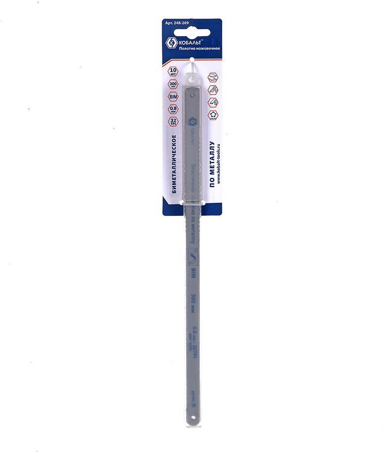 Полотно для ручной ножовки КОБАЛЬТ 248-269 полотно для ручной ножовки кобальт 248 283