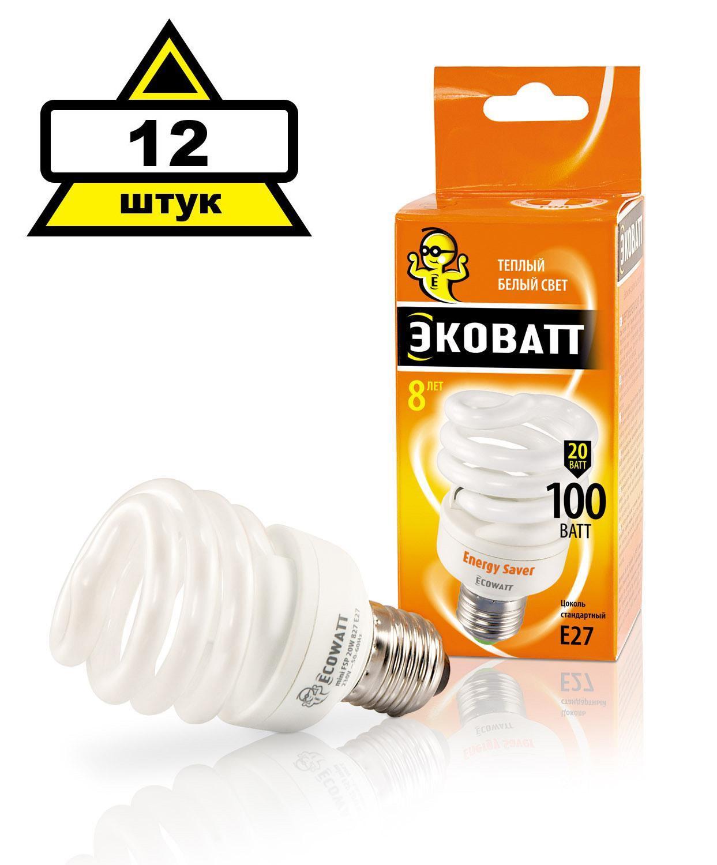 Купить Набор Ecowatt Лампа энергосберегающая mini fsp 20w 827 e27 12шт