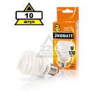 Набор ECOWATT Лампа энергосберегающая Mini FSP 20W 827 E27 10шт