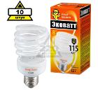 Набор ECOWATT Лампа энергосберегающая Mini SP 23W 827 E27 10шт