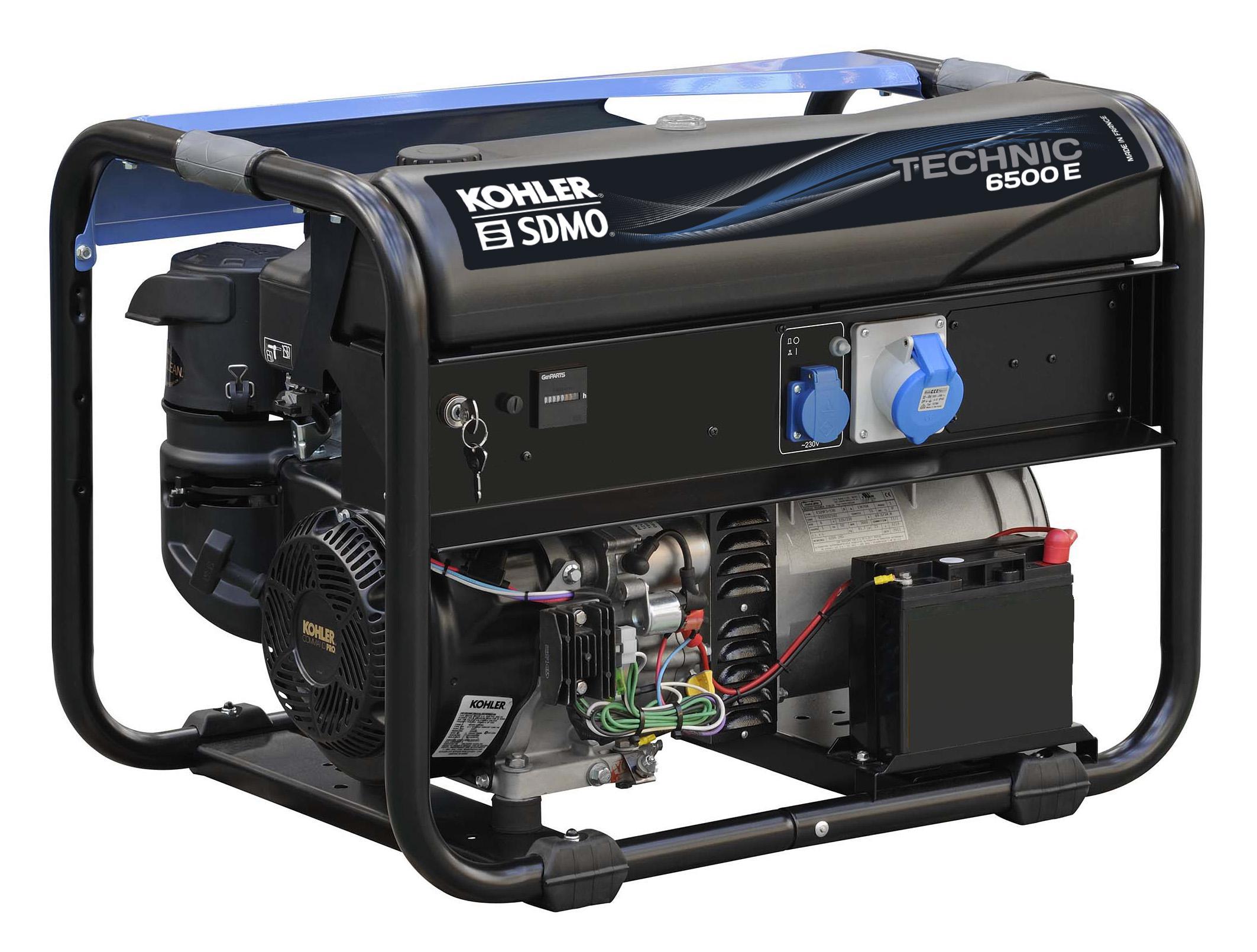 Бензиновый генератор Sdmo Technic 6500e