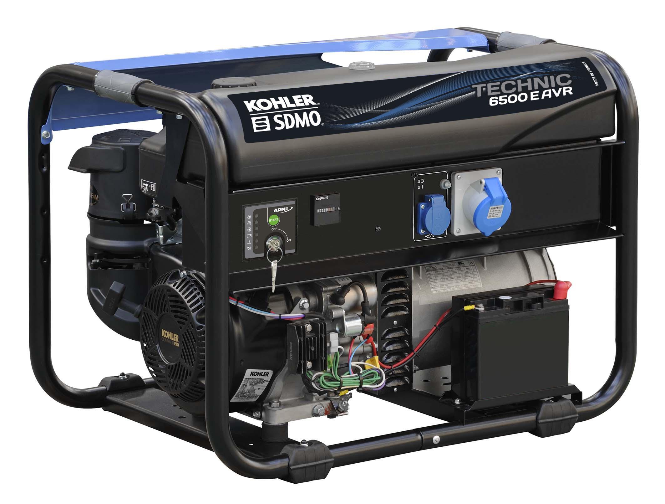 Бензиновый генератор Sdmo Technic 6500e avr m