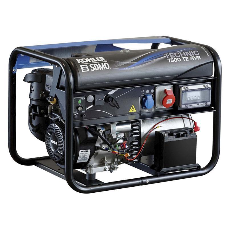 Бензиновый генератор Sdmo Technic 7500te avr m стабилизатор напряжения ippon avr 1000 4 розетки 1 м черный