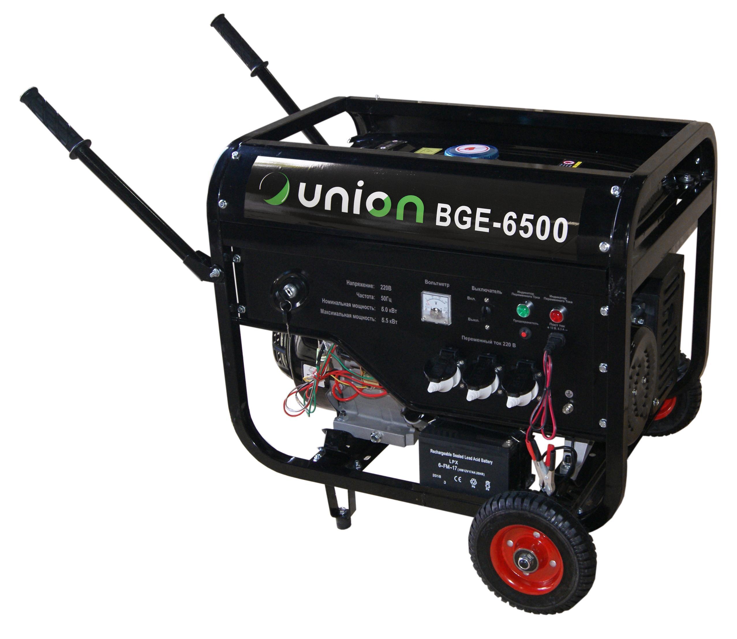 Купить со скидкой Бензиновый генератор Union Bge-6500