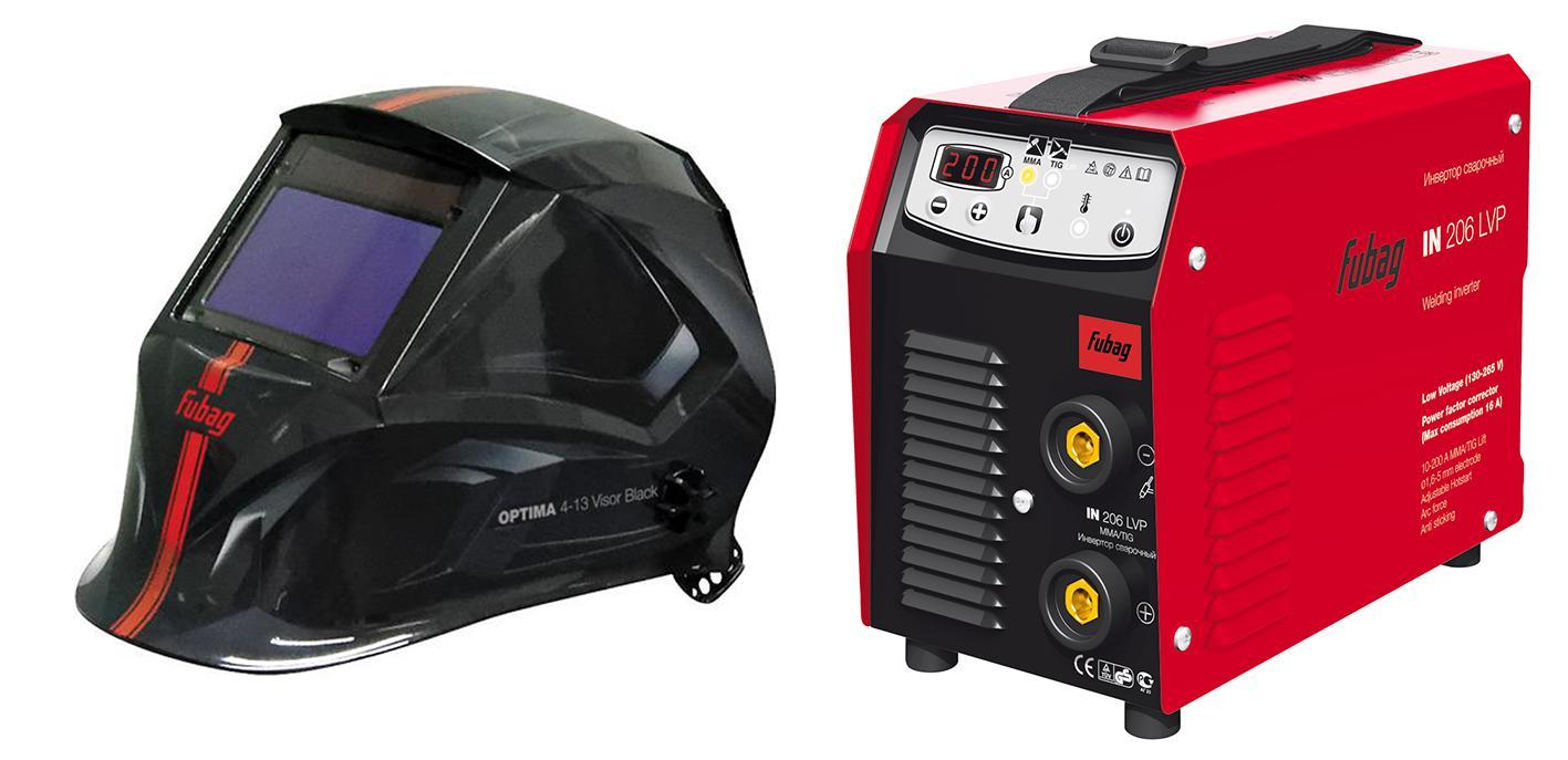 Купить Набор Fubag Сварочный аппарат in 206 lvp +Маска optima 4-13 visor black