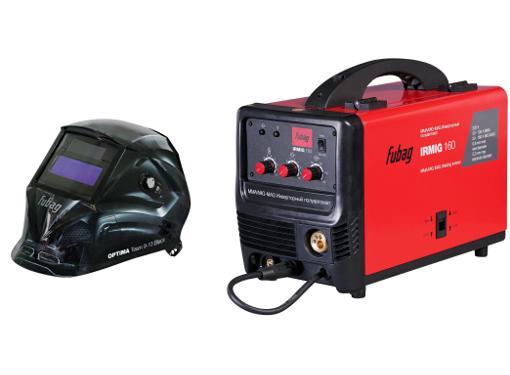 Набор FUBAG Сварочный полуавтомат IRMIG 160 38607 + горелка FB 150 3 м +Маска OPTIMA Team 9-13 Black 38074
