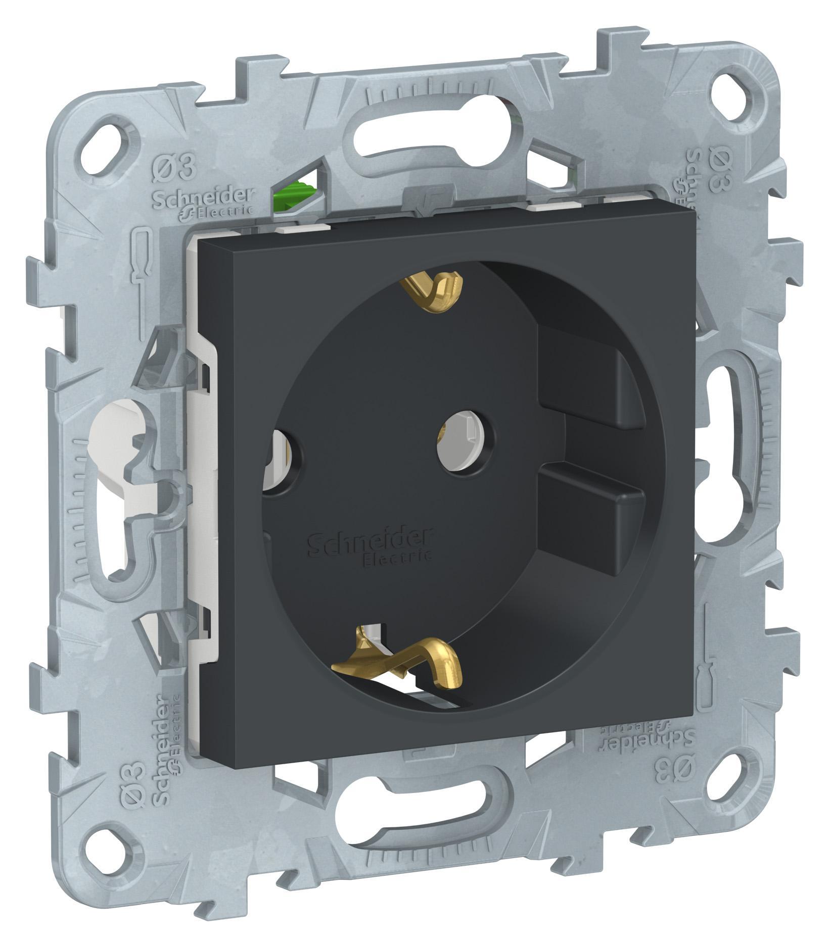 Купить Розетка Schneider electric Nu505654, антрацит